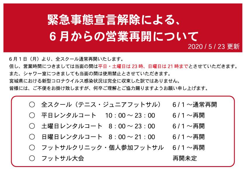緊急事態宣言お知らせ5月23日