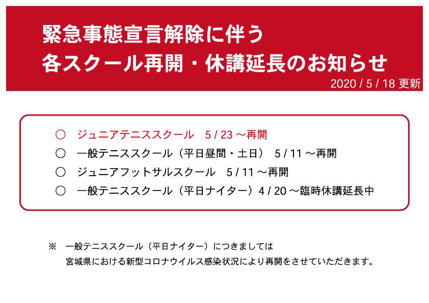 緊急事態宣言お知らせ5月18日